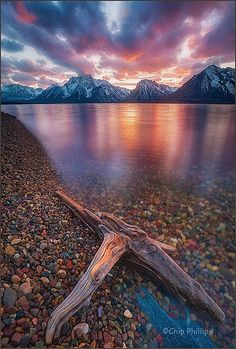 Jackson Lake is located in north western Wyoming in Grand Teton National Park One of the most beautiful places I've seen. Amazing Places On Earth, Oh The Places You'll Go, Places To Travel, Places To Visit, Grand Teton National Park, National Parks, Beautiful World, Beautiful Places, Beautiful Sunset