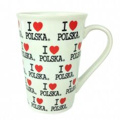 A great Polish gift! Fluted coffee mug features I Love Polska design. - Check out our other heritage items! - We have other heritage coffee mug designs! - Approximate Dimensions (Length x Width x Heig