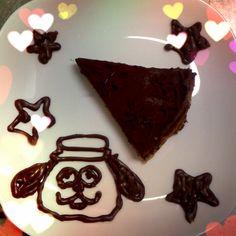 生チョコタルトとオラフ* Raw chocolate tart and Oraf