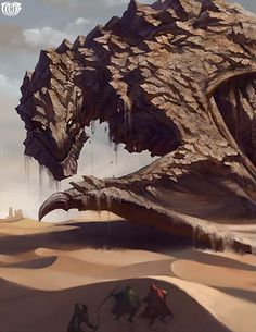 Artist: Unknown - Title: Unknown - Card: Stone Dragon of the Dunes