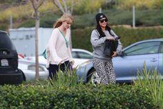Heather and Naya on set