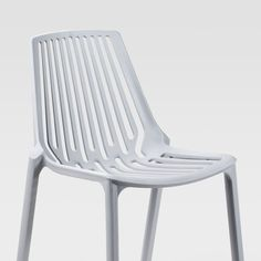 Modern stylish dining chair.Material: PolypropyleneAvailable Colours: White / Grey      Dimensions: 460mm (L) x 795mm (H) x 540cm (W)