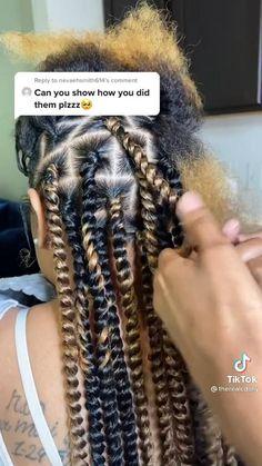 Faux Locs Hairstyles, Braids Hairstyles Pictures, Baddie Hairstyles, Twist Hairstyles, Cute Hairstyles, Natural Hair Styles For Black Women, Braids For Black Women, Braids For Black Hair, Extension Hairstyles