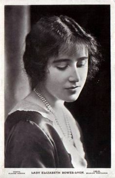 Lady Elizabeth Bowes-Lyon, later The Queen Mother by Gudrun Heike Royal Queen, Queen Mary, British Nobility, Mother Photos, Lady Elizabeth, British Monarchy, Royal Monarchy, Princess Margaret, Princess Diana