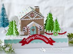 Gingerbread House Home Decor by Betsy Veldman for Papertrey Ink (October 2016)