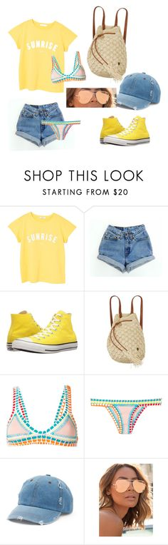 """Pineapple farming"" by soli-georgiana ❤ liked on Polyvore featuring MANGO, Levi's, Converse, Billabong, kiini, Mudd and Quay"
