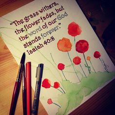 Bible verse, love, watercolor flowers, fading awayyy