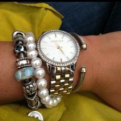 pandora. pearls. watch.   :)