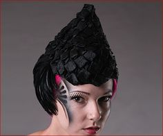 I wish I had a life that would allow me to wear the Raven Cocktail Hat by Jasmin Zorlu Millinery...