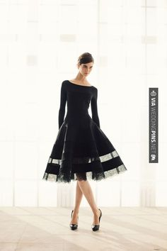 Donna Karan's pre-fall 2013 SUPER ELEGANT-CHIC-WONDERFUL | CHECK OUT MORE GREAT BLACK AND WHITE WEDDING IDEAS AT WEDDINGPINS.NET