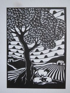 more sheep, under a tree once more x