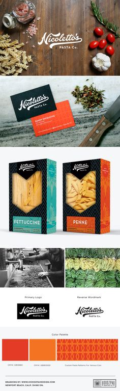 Hoodzpah Design Co. | Nicoletto's Pasta Identity System & Packaging Design