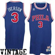 adidas Allen Iverson Philadelphia 76ers Soul Swingman Throwback Jersey - Royal Blue