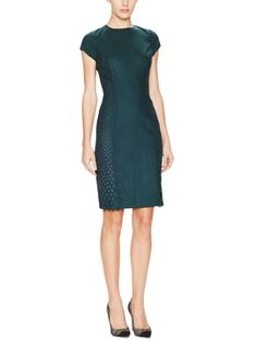 Ingrid Perforated Detail Sheath Dress from Susana Monaco on Gilt