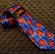 "J. GARCIA Tennis Shoe Escape 100% Silk Tie Mens NWT 59"" Red Blue Necktie Jerry #JGarcia #NeckTie"