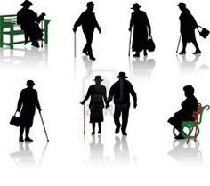 silhouette old man - Google Search