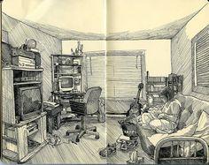 Paul Heaston | #sketchbook | The living room