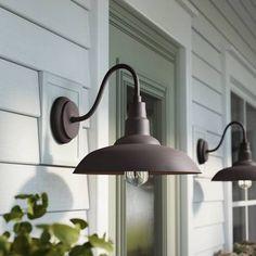 Brummett Outdoor Barn Light throughout Barn Lighting Exterior - Home Design Ideas Outdoor Barn Lighting, Outdoor Ceiling Fans, Outdoor Sconces, Outdoor Light Fixtures, Outdoor Wall Lantern, Porch Lighting, Outdoor Walls, Gooseneck Lighting Outdoor, Lighting Ideas
