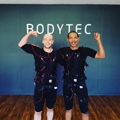 Kyle Botha studio owner of BODYTEC Century City training with client. #personaltrainers #motivation #inspiration #coach #fit #fitness #exercise #workout #20minutes #strengthtraining #training #onceaweek #resistance #muscles #fullbody #teamwork #team  #centurycity #canalwalk #crystaltowers #bodytecsa