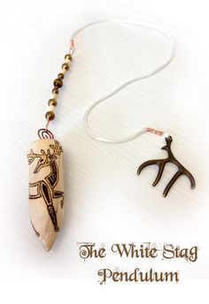 White Stag Pendulum druid pagan witch witchcraft by MoonsCraftsUK, .very lovely! Wiccan Wands, Wiccan Spells, Pagan Witch, Witches, Traditional Witchcraft, Wiccan Crafts, Pagan Jewelry, Book Of Shadows, Wild Women