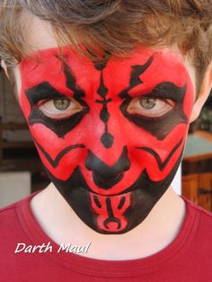Face Painting - Star Wars Darth Maul                                                                                                                                                                                 More