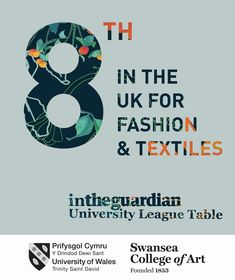 Guardian league table ranked 8th in the UK for our Textile courses © Swansea College of Art UWTSD Surface Pattern Design