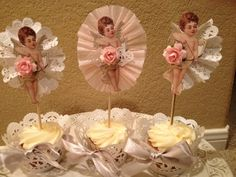 Cherub Cupcake Toppers for Valentine Decoration or Valentine Cupcakes