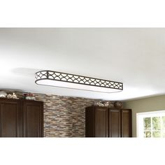 Shop allen + roth Light Bronze Ceiling Fluorescent Light ENERGY STAR (Common: 4-ft; Actual: 54.37-in) at Lowes.com