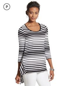 c323860718a Chico s Women s Petite Stripe Knit Jacket