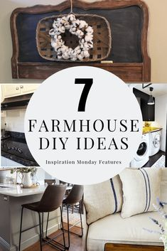 7 DIY ideas for adding farmhouse style to your home with features from Inspiration Monday link party! Farmhouse Style, Farmhouse Decor, Farmhouse Rules, Farmhouse Ideas, Cottage Style, Farmhouse Cabinets, Diy Chalkboard, Diy Projects For Kids, Southern Homes