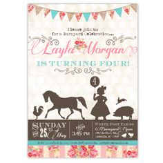 Pretty Petting Zoo Birthday Invitations – Ian & Lola Design Boutique