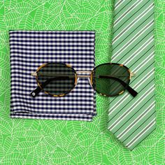 Gingham and Stripes and Warby Parker sunglasses. 10 Must Have Summer Combos.