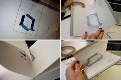 stitched pop up typography by iwona przybyla