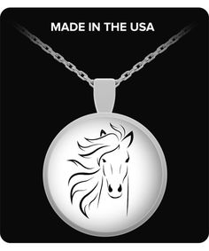 Horse Necklace Best Gift for Equestrians by MyLilacCreations