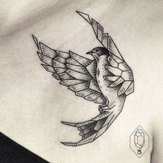 24 Wonderful Swallow Tattoo Designs