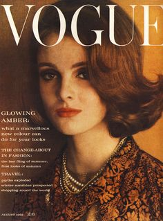 Grace Coddington on the cover - Vogue UK, August 1962 Grace Coddington, Catherine Deneuve, Candice Bergen, Jacqueline Bisset, Jean Shrimpton, Lauren Hutton, Vogue Uk, Vogue Russia, Teen Vogue