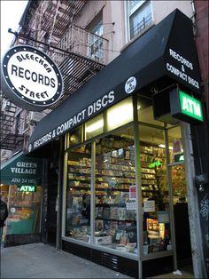Bleecker Street Records in Greenwich Village. Best bootleg rummage anywhere!