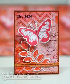 StampingMathilda: Darkroom Door ATC Swap - Pink & Orange
