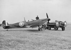 Groundcrew refuelling Supermarine Spitfire Mk IIa of No. 19 Squadron at Fowlmere, September This aircraft was one of the few Spitfire Mk IIs to fly operationally with a front-line squadron before the end of the Battle of Britain. Ww2 Aircraft, Fighter Aircraft, Military Aircraft, Fighter Jets, Military Weapons, Aviation Image, Aviation Art, The Spitfires, Supermarine Spitfire