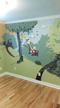 I tried my hand at a Calvin and Hobbes themed nursery. - Album on Imgur