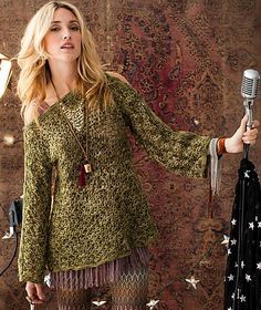 #32 Tunisian Lace Tunic, de Mary Beth Temple. http://www.ravelry.com/patterns/library/32-tunisian-lace-tunic