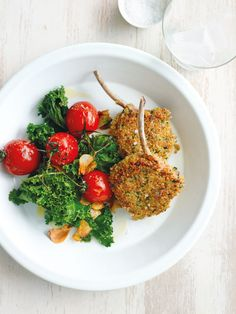 quinoa-crumbed lamb