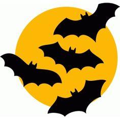 Silhouette Design Store: bats moon halloween