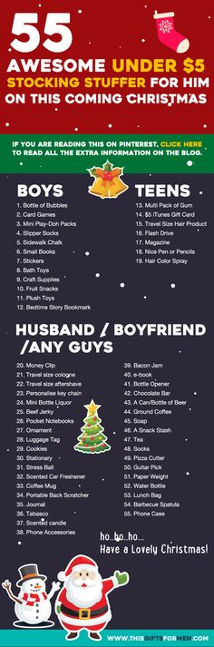 Looking for stocking stuffers for men under $5? I got you covered here. This infographic below should help you out. Let's find out what awesome gifts you can get for him. Kids Bottle of Bubbl…