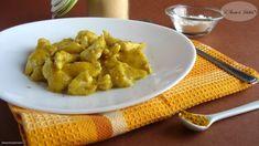 Un secondo leggero e dal sapore speziato: Pollo al curry e zenzero.