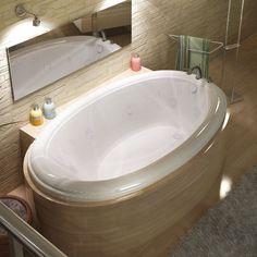 Atlantis Whirlpools 4478PCWL Petite 44 x 78 Oval Whirlpool Jetted Bathtub