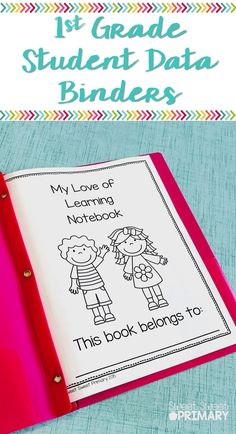Help your 1st grade students take ownership of their learning goals with student data binders. Students can set goals for reading and math skills and graph their progress.