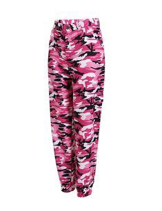 Fanteecy Women Camouflage Printed Jogger Pants Fashion Loose High Waist Harem Pants Sports Casual Pockets Sweatpants