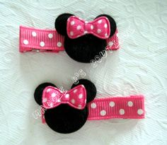 NEW Pink Bubble gum Pink Polka Dot Minnie by MaddieBsBoutique, $3.95