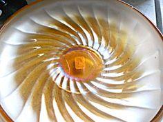 Carnival Glass Bowl W/ Swirled Pattern